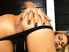 Lovely Yasmin playing with her big cock & ass