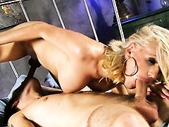 Hot Juliette getting drilled by a huge fat cock