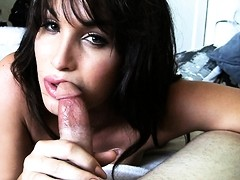 Horny Jonelle Brooks giving an amazing blowjob