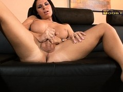 Amazing Ashley playing with her juicy rock hard cock
