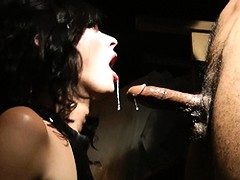 Tempting Mandy getting toyed, gagged and fucked