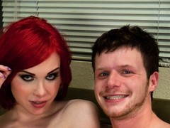 Sarina Valentina is back as a top- flip fucking & sucking a hot new guy. She tosses him like a rag doll taking his mouth & ass & demanding