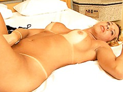 Big titted tgirl Beatriz playing with herself