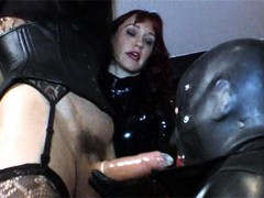 Zoe is the TGirl star when she is forced to fuck two gimps by her gorgeous FemDom.