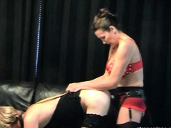 Strapon Jane fucks her pretty little sissy nice and hard.