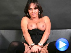 Monica Yatarazzo is a beautiful Tranny from italy. today she gets to fuck a mans ass and a girls pussy.