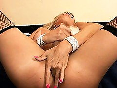Naughty maid Samantha playing with her beautiful cock