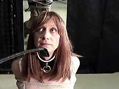 Naughty Lucimay gets tied and up spanked with horse whip