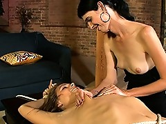 Naughty Mandy Mitchell playing with cute Ashley George