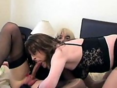Candi takes a huge cock in her slutty mouth