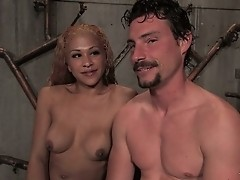 TS Jessica Holst fucks her plumber until cumming on his body
