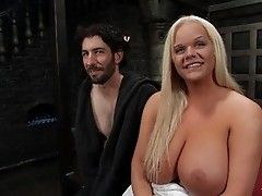 TS Holly Sweet fucks her slave in the ass and cums in his face