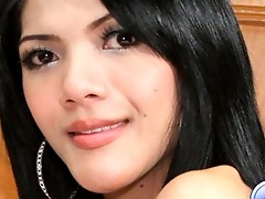 Tiny thai katoey plays with her cock and shows off her tight asshole to the Ladyboy-Ladyboy members