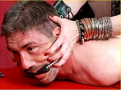 Tempest takes the pliers to this sissy boy and skewers him with a riding crop