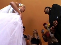 Lustful shemale bride craving for ass-plundering finale of steamy wedding
