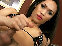 Sexy shemale Violet masturbating just for you