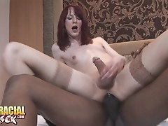 Hot Tranny Sammi Riding Big Black Cock