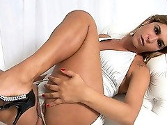 Adorable TS Alexia posing her sweet ass and cock