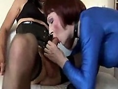 Zoe takes a stiff cock deep inside her slutty wet mouth