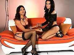 Behind the hardcore scenes with amazing tgirls Vaniity and Foxxy