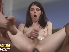 Awesome Mandy Gets Her White Ass Filled With Black Dick