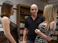 TS Kelly Shore fuck a girl and a guy in the ass