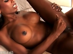 Super hot chocolate tranny gets her asshole fucked deep