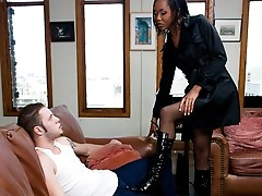 Wolf gets dominated by sexy TS Nyobi