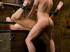 Hot ts girl gets her cock sucked by straight guy & ass fucks him