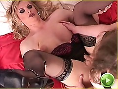 Two tgirls get frisky together
