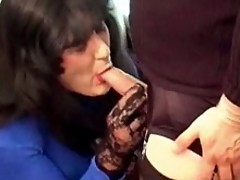 Yvette and her femdom slut punish a naughty Tgirl slut