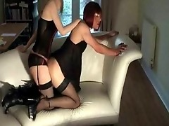 TV slut Zoe gets fucked and sucked on a sofa