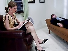 TS Mandy Mitchell hypnotizes her slave and fucks him hard.