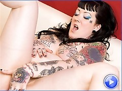 Bliss is a punky and voluptuous tgirl with a tight she-pussy!