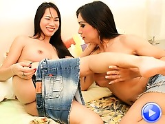 Alice and At get it on in a hardcore trans lesbian sex scene